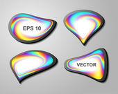 Shiny vector bubbles for speech — Stock Vector
