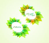Set of spring round banners — Stock Vector