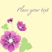 Romantic Flower Background — Vecteur