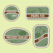 Set of Eco Natural Labels — Stock Vector