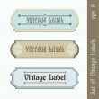 Set of Vintage Labels — Stock Vector #9087488