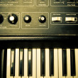 Stock Photo: Synthesizer Knobs and Keys