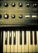 Synthesizer Knobs and Keys — Stock Photo