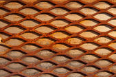 Rusty crisscross diamond background wood board — Stock Photo