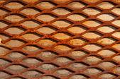 Rusty crisscross diamond background wood board — Stock Photo