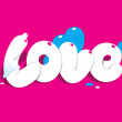 Lettering LOVE. For themes like love, valentine — Stock Vector