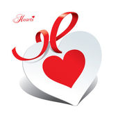 バレンティンの愛のような主題のためのカードの形でロマンチックなアイコン — ストックベクタ