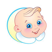 Smiling baby — Vector de stock