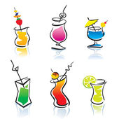 Set of the different cocktails — Vector de stock