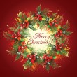 Christmas holly wreath — Stock Photo #8822707
