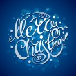Christmas Card with lettering. Vector illustration. — Imagen vectorial
