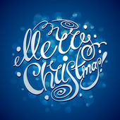 Christmas Card with lettering. Vector illustration. — Stock Vector