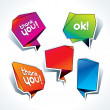 Stock Vector: Set of colorful speech bubbles on white background. Vector i
