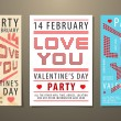 Royalty-Free Stock Imagen vectorial: Set of Valentine