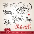 Set of Valentine — Vettoriale Stock #8896268