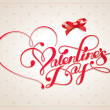 Royalty-Free Stock Imagen vectorial: Valentine card with calligraphic lettering. Vector illustration.