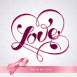 Lettering LOVE. For themes like Mother - Stok Vektr