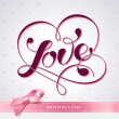 Royalty-Free Stock Vector: Lettering LOVE. For themes like Mother