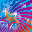 Abstract background with stars and colorful waves — Grafika wektorowa