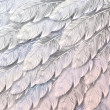 Seamless background of white feathers, close up — ベクター素材ストック