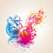 A colorful balls with drops and sprays — Imagen vectorial