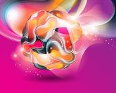 Kleurrijke abstracte achtergrond. vectorillustratie. — Stockvector