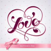 Písmo lásky. pro témata jako matka — Stock vektor