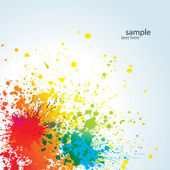 Background with colorful spots and sprays on a white — Stock Vector