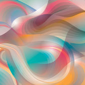 Abstract background with transforming shining forms. Vector illu — Stock Vector