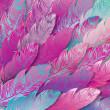 bezszwowe tło piór różowe opalizujące, z bliska — Wektor stockowy