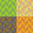 Pattern from orange segments of four different colors — Imagen vectorial