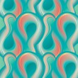 Abstract turquoise seamless pattern with transforming forms. Vec - Stock Vector
