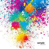 Bakgrund med färgglada fläckar och sprayer på en vit. vektor sjuk — Stockvektor