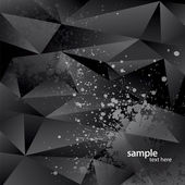 Abstract background with black triangles and sprays. Vector illu — Stock Vector
