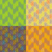 Pattern from orange segments of four different colors — Stock Vector