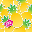 Background from pineapple with an arrow by organic food — Stock Vector