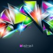 Abstract background from colorful glowing triangles. Vector illu — ストックベクター #9028601