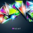 Wektor stockowy : Abstract background from colorful glowing triangles. Vector illu