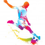 Soccer player kicks the ball. Vector illustration. — Stock Vector