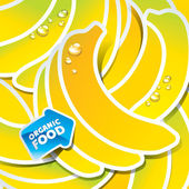 Background from bananas with an arrow by organic food — Stock Vector