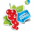 Icon currant with arrow by organic food. Vector illustration — Векторная иллюстрация
