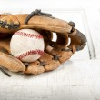 Baseball and mitt — Stock Photo #10447201