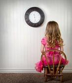 A child in time out or in trouble — Stock Photo