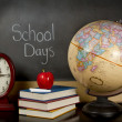 Stock Photo: School days chalk board
