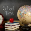 Stock Photo: School time chalk board