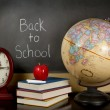 Back to school chalk board — Stock Photo
