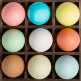 Easter eggs in a printers box — Stock Photo