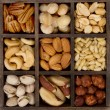 Assorted nuts for a background — Stock Photo