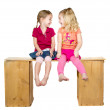Two happy children laughing — Stock Photo