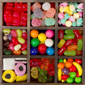 Assortment of candy for a background — Stock Photo